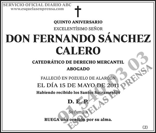 Fernando Sánchez Calero